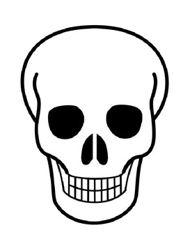 Skull Template Skull Outline Halloween Skull Coloring Page ...