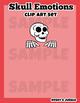 Skull emotions Clip art set