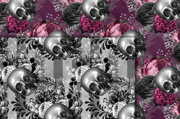 Skullflower Digital Paper