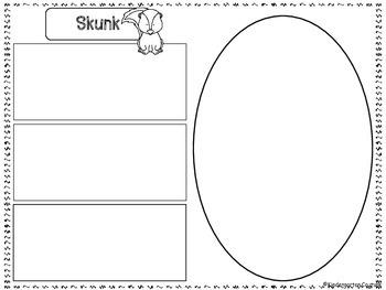 Skunk Graphic Organizers