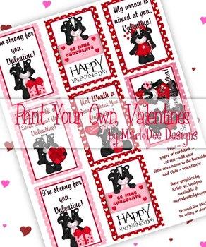 Skunk Love Printable Childrens Valentine Cards d1