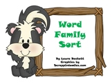 Skunk Word Family Sort