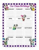 Skunks Birthday Chart