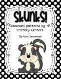 Skunks! Consonant patterns ng, nk Literacy Centers