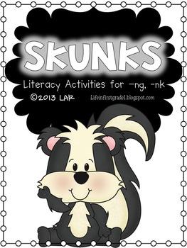 Skunks! Final -ng, -nk Literacy Activities
