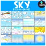 Sky Backgrounds Clip Art Set {Educlips Clipart}