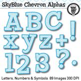 Sky Blue Chevron Alpha Clip Art - 89 images
