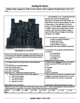 "Intervention & Test Prep with ""Sky Cathedral"" by Louise Nevelson"