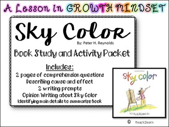 Sky Color-Comprehension Questions & Activity Packet-Growth Mindset