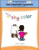 Sky Color: Text-Dependent Questions and Close Reading Worksheet
