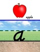 Sky-Grass-Dirt LOWERCASE Alphabet Display - D'Nealian Font