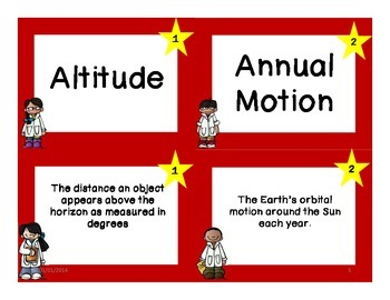 Sky Science Resources - Vocabulary Cards