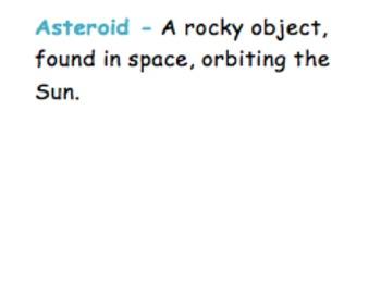 Sky Science Vocabulary Word Wall