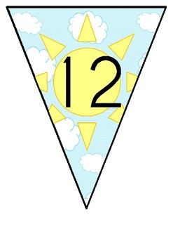 Sky Themed Number Bunting 11-20
