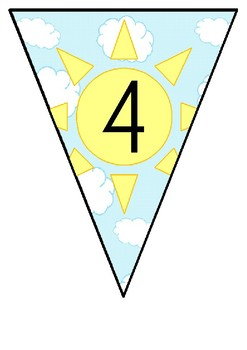 Sky Themed Number Bunting to 10