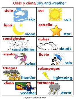 Sky and Weather Bilingual
