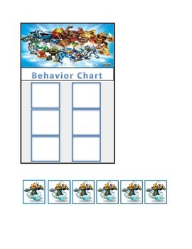 Behavior Chart (6 Boxes) Skylanders