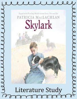 Skylark Literature Study: Printables, Vocabulary, Questions, Activities