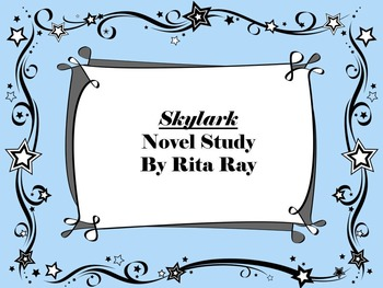 Skylark Novel Study Patricia MacLachlan