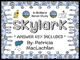 Skylark (Patricia MacLachlan) Novel Study / Reading Comprehension (30 pages)
