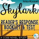 Skylark: Reader's Response Booklet & Test