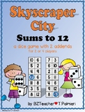 Skyscraper City - an Addition Sums to 12 Game for 2 or 4 Players