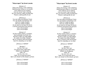 Skyscraper Lyrics by Demi Lovato French and Indian War Connection