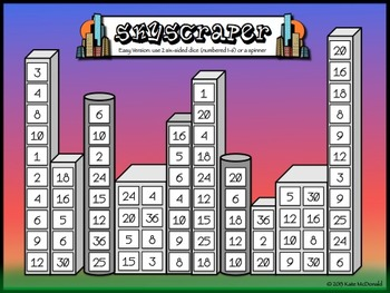 Skyscraper Multiplication Game