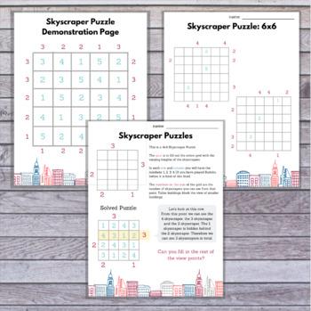 Skyscraper Puzzle Lesson