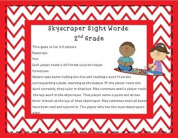 Skyscraper Sight Words Second Grade