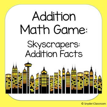 Addition Facts Math Game