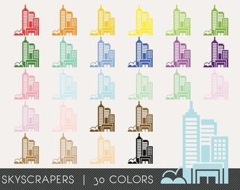 Skyscrapers Digital Clipart, Skyscrapers Graphics, Skyscrapers PNG