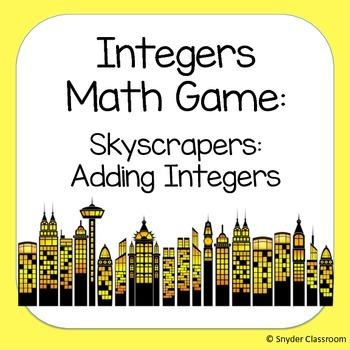Adding Integers Math Game