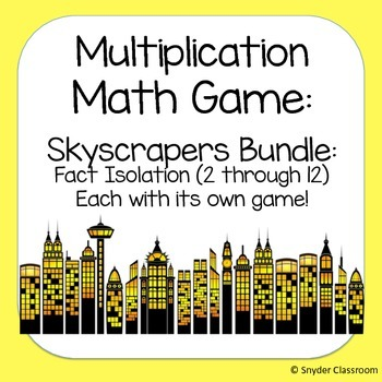 Multiplication Facts Math Game  :Fact Isolation Pack (11 different game boards!)