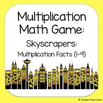 Multiplication Facts Math Game  : Facts 1-9 (2 different g