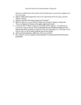 Skyward Online Assignment/Assessment