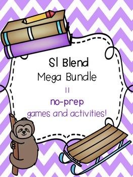 Sl Blend Mega Bundle! [11 no-prep games and activities]