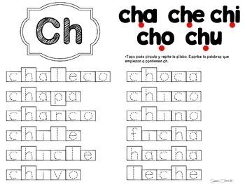 Sílaba inicial 4 ch, q, g y ñ