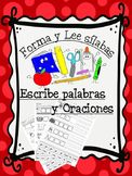 Silabas Cut, Paste and Write for the Bilingual and Dual Language Classroom