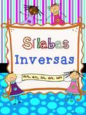 Silabas Inversas --an, en, in, on, un  Sílabas Inversas