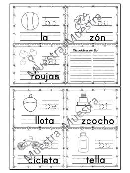 Sílabas - Mini librito sílabas con B/ Spanish Syllables mini book Letter B