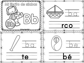 Sílabas - Mini librito sílabas con B/ Spanish Syllables mi