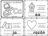 Sílabas - Mini librito sílabas con C/ Spanish Syllables mini book Letter C