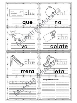 "Sílabas - Mini librito sílabas con Ch / Spanish Syllables mini book digraph ""ch"""