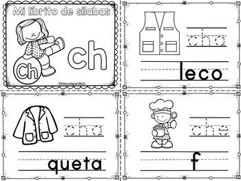 "Sílabas - Mini librito sílabas con Ch / Spanish Syllables mini book digraph ""ch"""