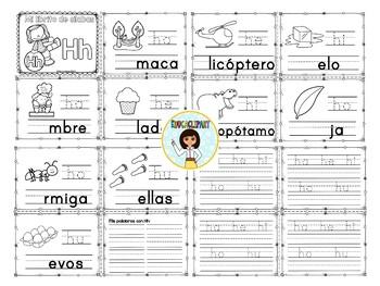 Sílabas - Mini librito sílabas con H / Spanish Syllables mini book Letter H