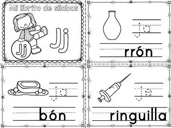 Sílabas - Mini librito sílabas con J / Spanish Syllables m