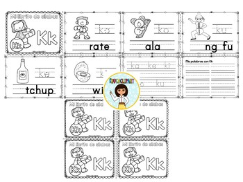 Sílabas - Mini librito sílabas con K / Spanish Syllables mini book Letter K