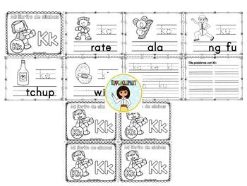 Sílabas - Mini librito sílabas con K / Spanish Syllables mini book Letter K