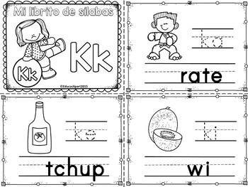 Sílabas - Mini librito sílabas con K / Spanish Syllables m